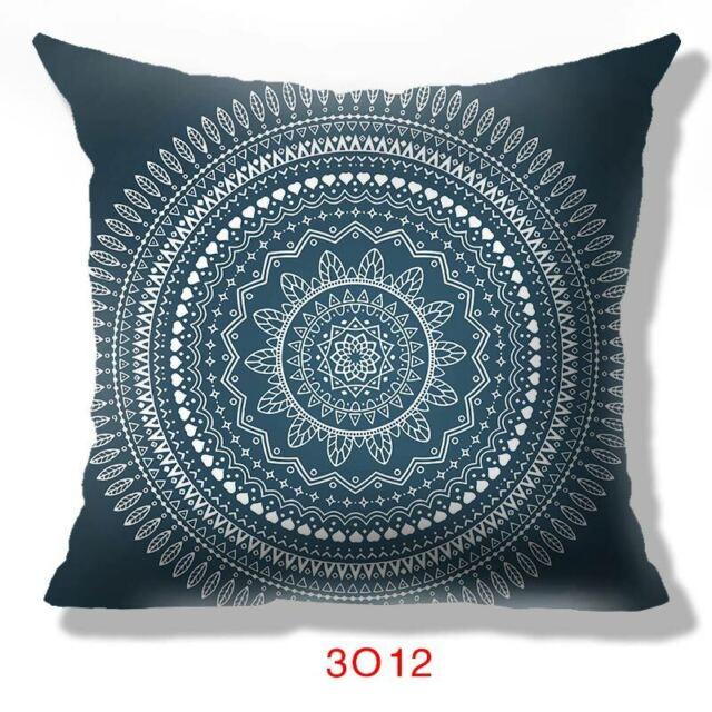 """Black /& White Indian Mandala Geometric Cushion Cover Pillow Boho Sofa Square 16/"""""""