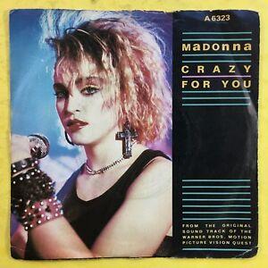 Madonna-Crazy-For-You-Geffen-Records-A6323-Ex-Condition