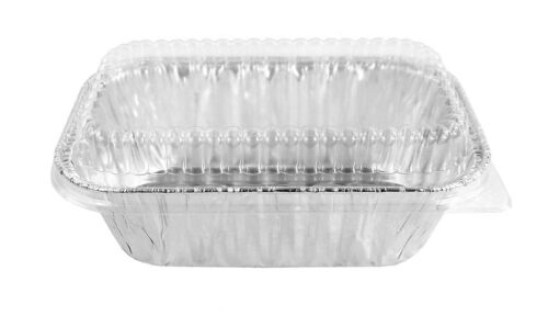 Combo Pack - Disposable Mini 1 Lb. Loaf Pans w/ Clear Dome Lids- #5000P