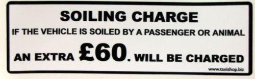 Sporco addebito ubriachi Adesivo £ 60.00 nero su sfondo bianco