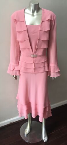 maglina longuette pezzi Pink in tre tre pezzi Rose vintage 16 a taglia a Dusty Gonna 7Hqfw4YY