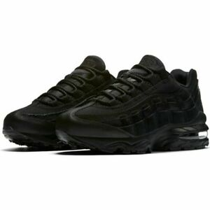 Details about JUNIOR'S NIKE AIR MAX 95 BLACK TRAINERS 307565 055
