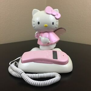 4d4ef6816 Image is loading Collectible-Hello-Kitty-Angel-Corded-Landline-Phone-Call-