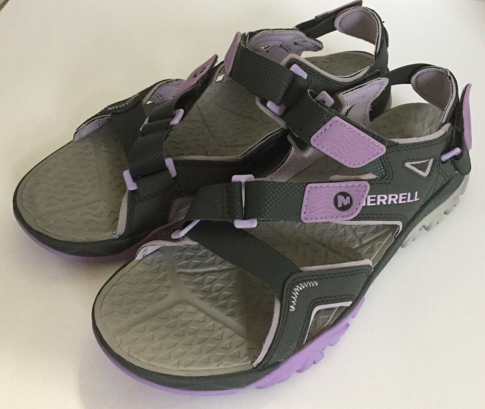 Women's Merrell Tetrex Crest Strap Granite Purple Sport Sandals 9 M