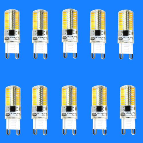 10pcs G9 Base led Light bulb 72-4014 120V Warm White Crystal chandeliers #H