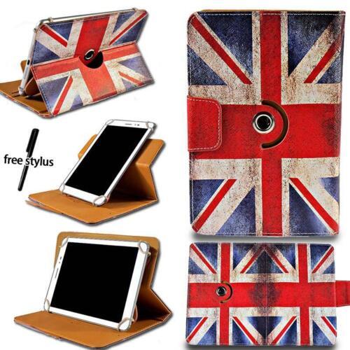 Per Archos 70 79 80 Tablet-Folio Rotante Stand Portafoglio in Pelle Cover Case
