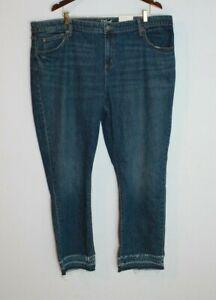 Women/'s Plus Size Jeans Bootcut Flare Bottom Distressed Boyfriend Dark Acid Wash