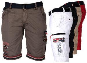 GEOGRAPHICAL-NORWAY-Herren-Cargo-Shorts-kurze-Hose-Short-Bermuda-knielang-Parodi