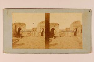 Italia-Pompei-c1865-Foto-Stereo-Vintage-Albumina-n2