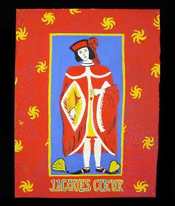 Jacques Coeur C1940 Projet D'affiche Gouache Par Ph Voinat Petit Roi De Bourges 8csop4sr-10103644-315172133