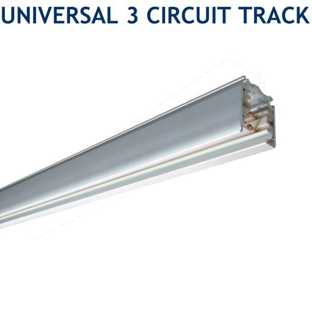 Collect Targetti Aluminium 3c 3 Circuit Track Lighting Rail System Meter 3m