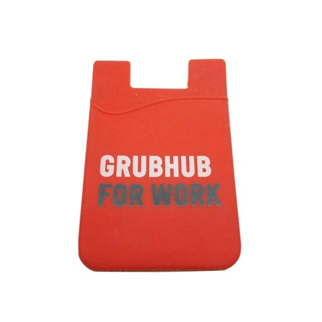 Grubhub ID//credit card holder sticks to your phone license holder New Red