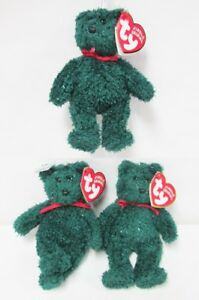 3dcf1ad4fa2 Image is loading Ty-2001-Holiday-Teddy-Jingle-Beanie-PRISTINE-CLEAN-