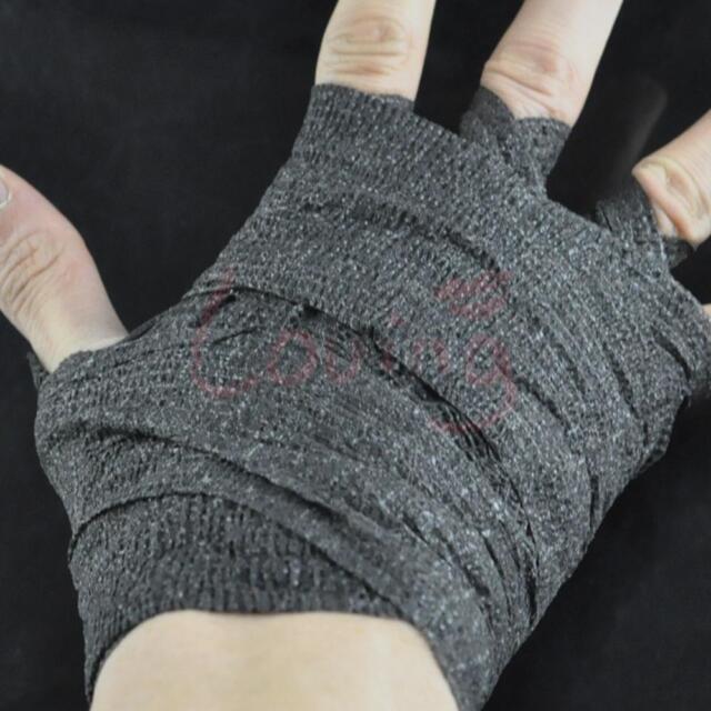 Black Athletic Bandage Elastic Cohesive 7.5cm * 4.5m Sport Wrap Tape Strapping