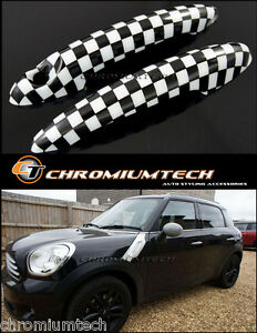 MINI Cooper/S/ONE R55 Clubman R57 Convertible Chequered Flag Door Handle Covers