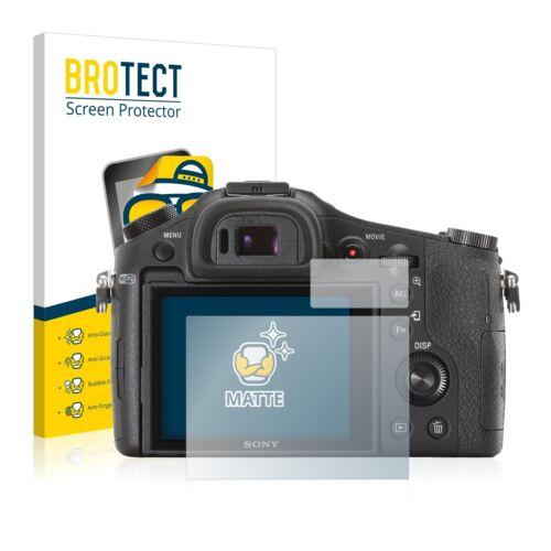 2x Displayschutzfolie Matt Sony Cyber-Shot DSC-RX10 Schutzfolie Folie