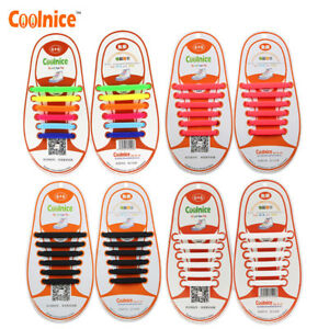 Elastic Lock Laces Shoelaces No Tie Laces Running Adult Kids Sports Shoe Trainer