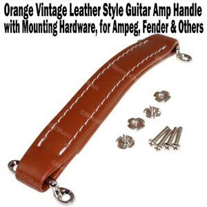 Orange Vintage Leather Style Guitar Amplifier Handle for Fender Ampeg Amps Amp