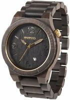 WeWood Alpha Black Gold 100% Natural Wood Wooden Watch Blackwood Glow in dark