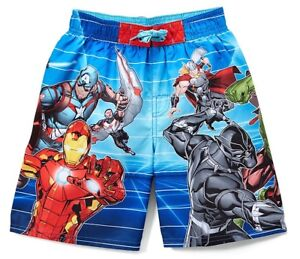 AVENGERS INFINITY WAR UPF-50+ Bathing Suit Swim Trunks Boys Size 4, 5/6 or 7 $25