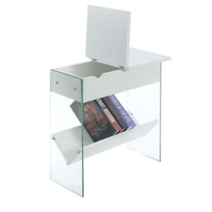 SoHo Electric Flip Top End Table