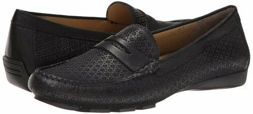 VANELi Women's Remy Black Leather Slip-on Loafer Flat