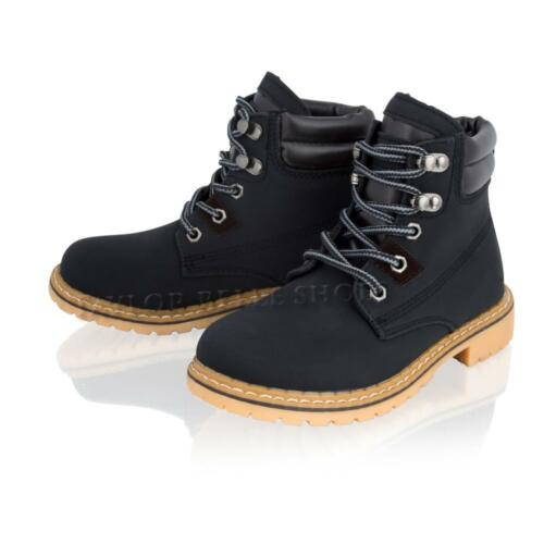 BOYS KIDS GIRLS LACE UP CHILDERENS FLAT DESERT WINTER HI ANKLE BOOTS SHOES SIZE