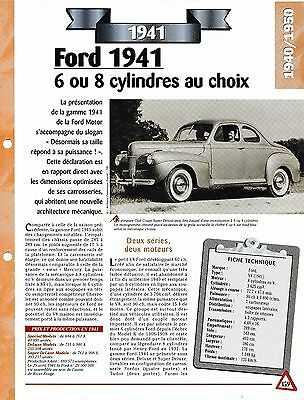 Ordinato Voiture Ford V8 - Fiche Technique Automobile 1941 Collection Car Per Classificare Prima Tra Prodotti Simili
