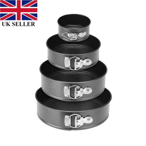 UK 6//8//10 inch Round Cake Tin Form Spring Stick Non Tray Pan Baking Base Loose