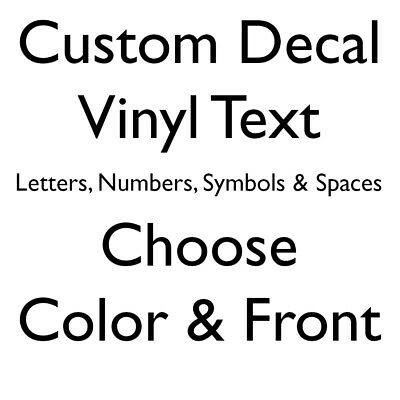 Custon order vinyl letters