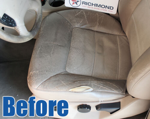 03-06 Expedition Eddie Bauer Driver Side Bottom Replacement Leather Seat Cover