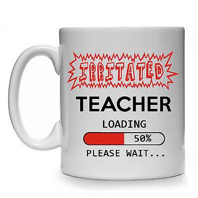 IRRITATED TEACHER LOADING GIFT MUG CUP PRESENT ENGLISH MATHS SCIENCE HISTORY