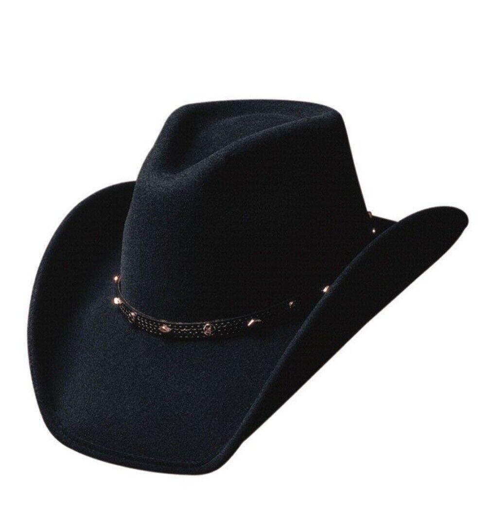 Bullhide Hats Cowboyhut Westernhut Thunderbird schwarz Wollfilz Line Dance