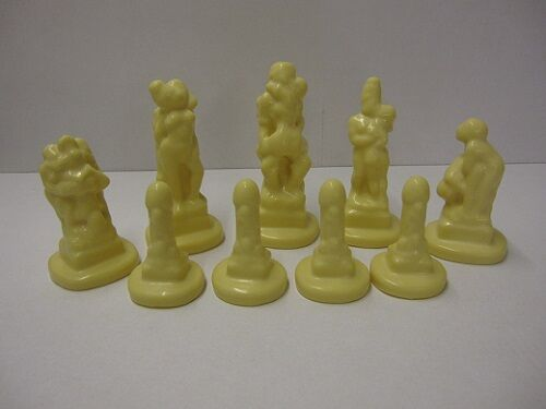 NEW COLLECTABLE  9 x REF 0028 SUPERCAST KAMA SUTRA CHESS MOULDS   MOLDS