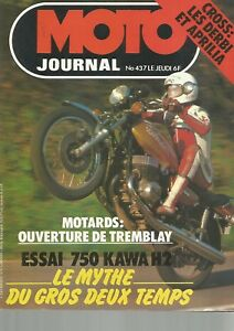 Moto Journal N437 750 Kawasaki H2 Essai Derbi Et Aprilia Tour D