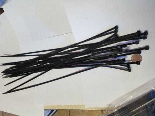 "4000 Pack 18/"" Blck Zip Ties//Cable Ties Heavy Duty Nylon UV Resistant UL Scorpion"