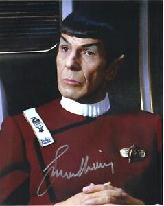 Leonard Nimoy Classic Star Trek TV Series Mr Spock Autographed Picture #10