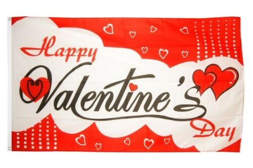 Fahne Happy Valentine/'s Day Valentinstag 2 Flagge Valentinstag Hissflagge 90x1