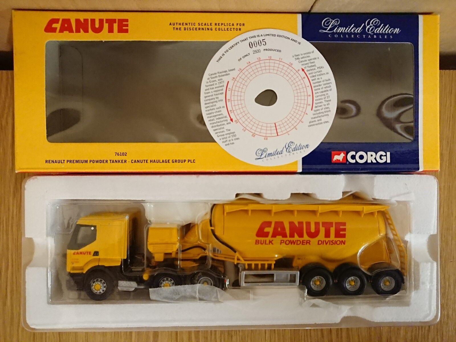 Corgi 76102 Renault Premium Powder Tanker Canute Haulage Ltd Ed nr. 0005 of 2500
