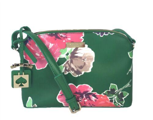 NWT Kate Spade Brightwater Drive Hanna Plaid Spring Bloom Crossbody Handbag