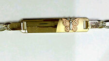 "14K Gold Baby ID Bracelet Butterfly  "" ON SALE THIS WEEK"""