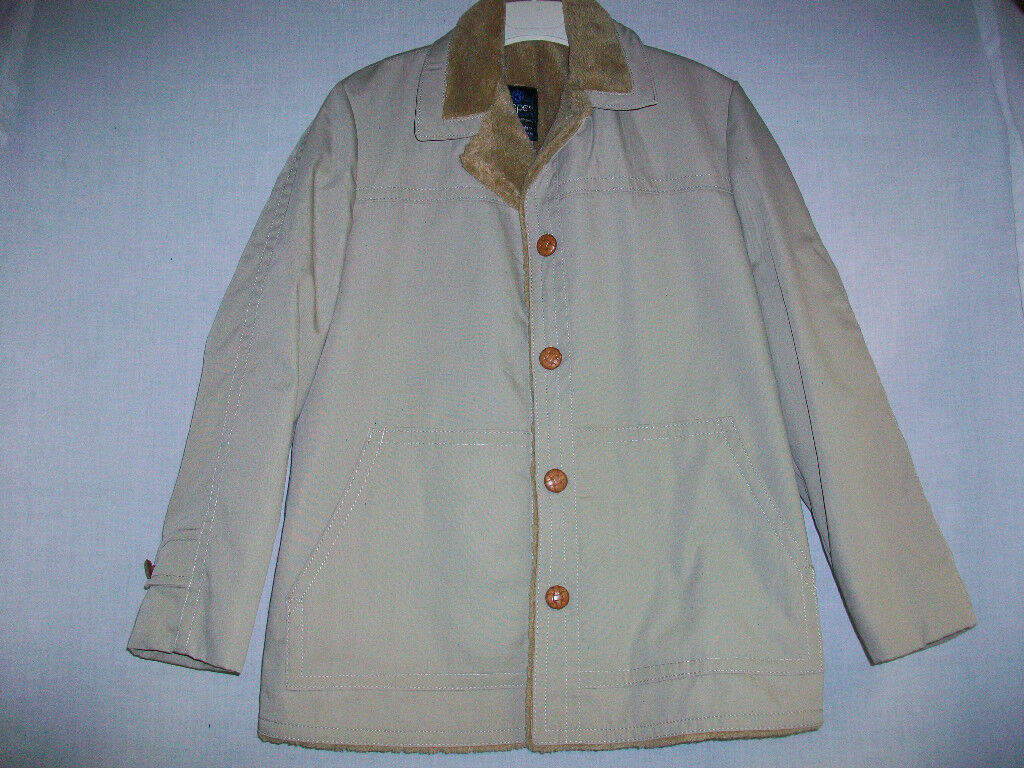 Men's COOPER OUTERWEAR Coat sz 42 Fifth Ave NY Beige