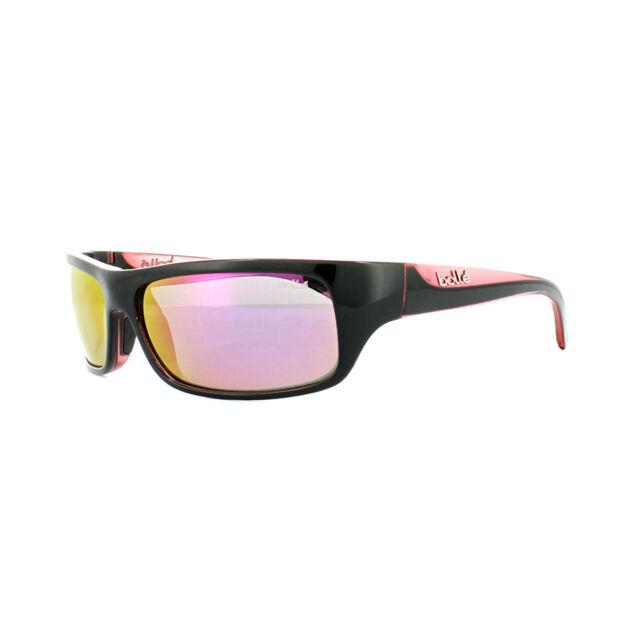 0221c34874 Bolle Fierce Sunglasses Shiny Black rose Frame Rose Gold Oleo AF Lens 11942