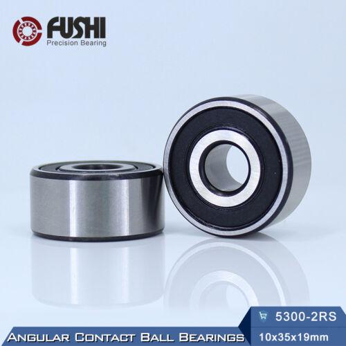 1 PC Axial Double Row Angular Contact bearings 5300 2RS Bearing 10x35x19 mm
