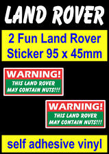 4X4 STICKERS  DEFENDER DISCOVERY RANGE LAND ROVER Warning Duck Tape May Fail