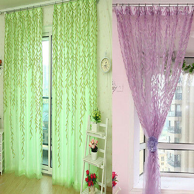 Willow Tulle Door Window Curtain Drape Panel Sheer Scarf Valances Excellent