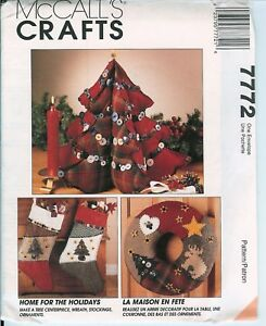 McCalls-7772-CHRISTMAS-Crafts-Tree-Wreath-Stocking-Ornaments-UNCUT-Pattern-FF