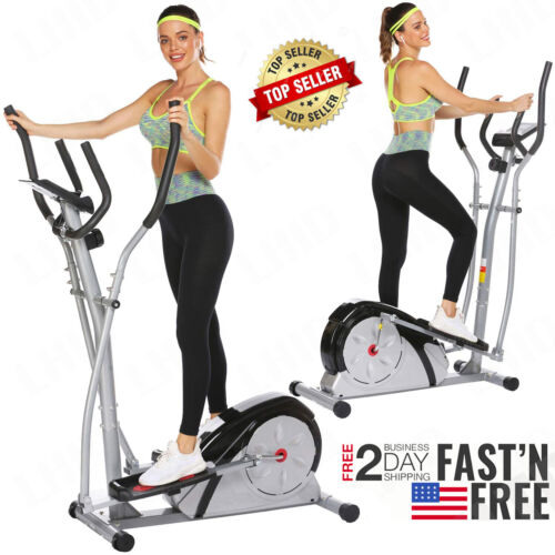 Details about  /NEW Elliptical Exercise Machine Fitness Trainer Cardio Workout Home Gym Workout