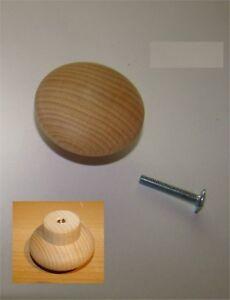 1x-Knopf-aus-Holz-Buche-ROH-Durchmesser45mm-Gesamthoehe-25mm-1x-Schraube