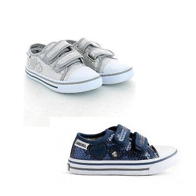 Scarpe Sneakers Canguro Kids Pailettes C56135 Blu o Argento Bambina | eBay